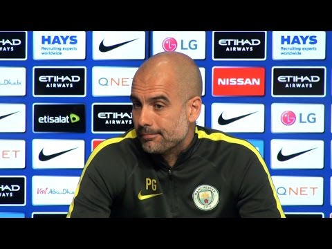 Pep Guardiola Pre-Match Press Conference - Manchester City v Leicester - Embargo Extras