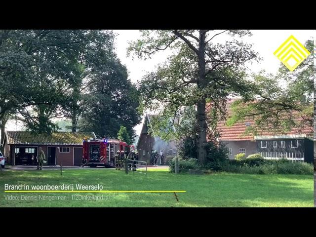 Brand in woonboerderij Weerselo