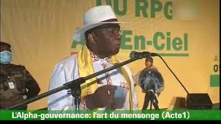 L'Alpha Gouvernance: L'art Du Mensonge Acte1