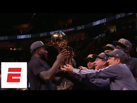 [FULL] Golden State Warriors 2018 NBA Finals trophy presentation | ESPN