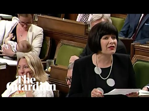 Canadian MP breastfeeds her son in parliament