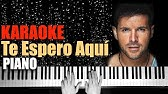 Te Espero Aqui Pablo Lopez Piano Tutorial Youtube
