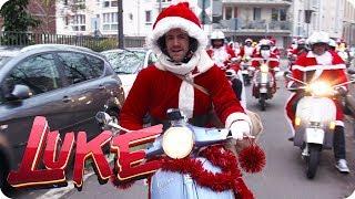 Frohe Weihnachten! Luke verteilt Geschenke