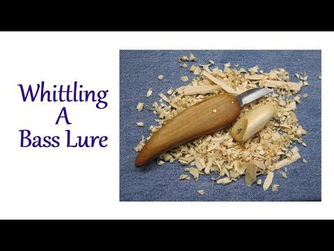 Whittling A Bass Lure