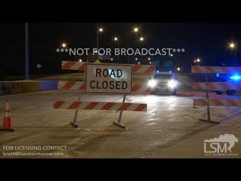 1-17-2018 Baton Rouge, La Ice shuts down Interstate 10 and 12