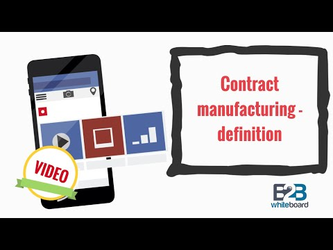 Contract manufacturing - definition