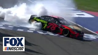 Martin Truex Jr. scores first win of the year in California | 2018 AUTO CLUB | FOX NASCAR 2017 Video