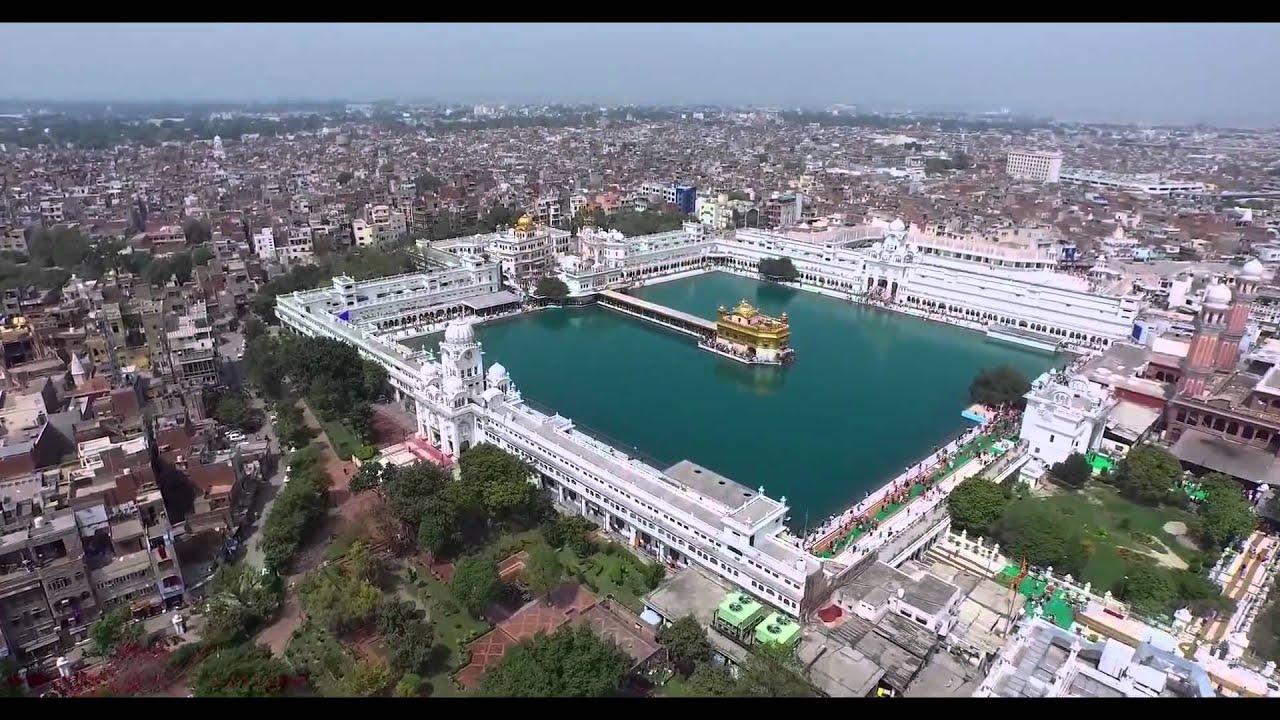 Golden Temple Harmandhir Sahib Aerial 4k Video Youtube