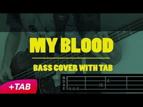MY BLOOD - twenty one pilots (BASS COVER + TAB in Video)