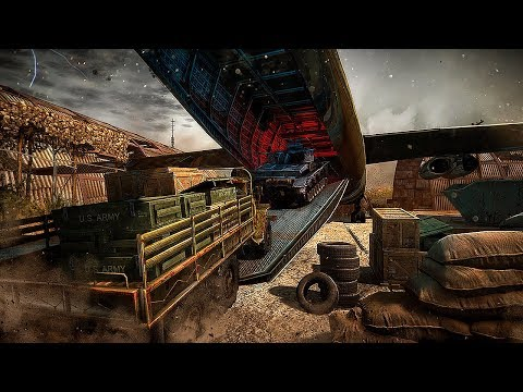 World War Army Cargo Transporter Airplane Game Gameplay
