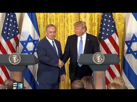 President Trump, Israel PM Netanyahu joint news conference. Feb 15. 2017.