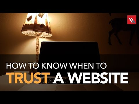 How to know when to trust a website