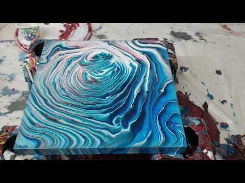 Acrylic Pouring / 3D Ring Pour / New Technique / Paint Split / Fluid Art / Flow Art / Pour Painting