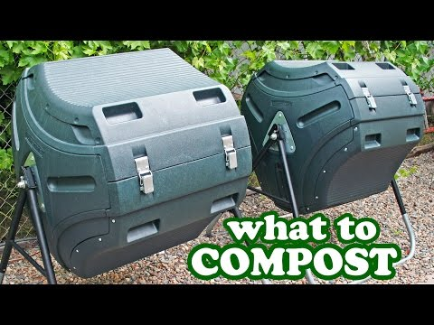 How To Compost Composting Tips - What To Add Tumbler Composter Bin Bins -DIY Make Mulch Soil Topsoil