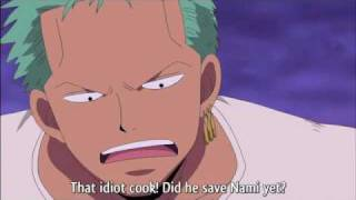 zoro worried about his girl?