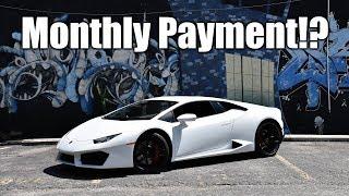 Explaining The Monthly Payment on My Lamborghini Huracan... thumbnail