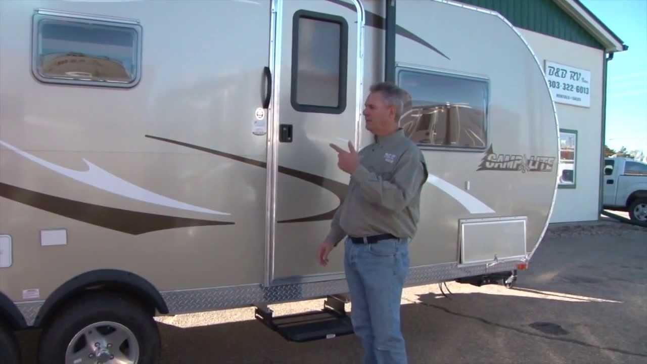 21ft All Aluminum Camp Lite Slide Out Trailer