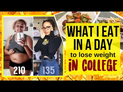What I Eat in a Day | ��College Weight Loss