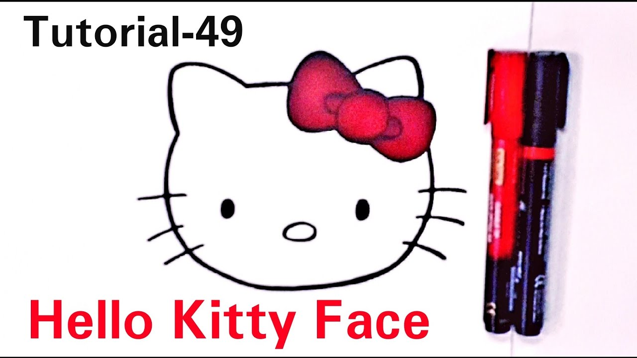 How to draw a Hello Kitty face|Hello Kitty face drawing ...