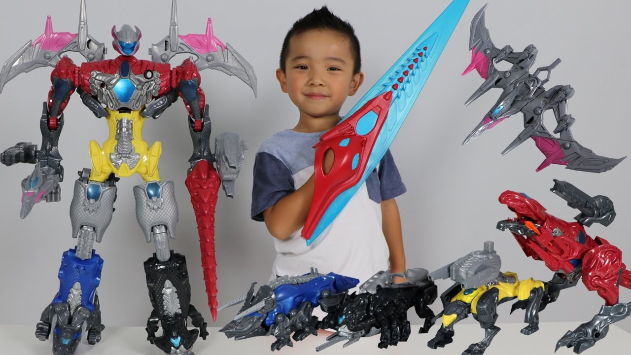 Power Rangers Movie Megazord Surprise Toys Hunt Building The Five Battle Zords With Ckn Toys