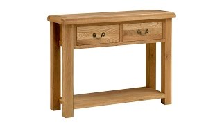 Delaware Oak Console Table - Pinesolutions