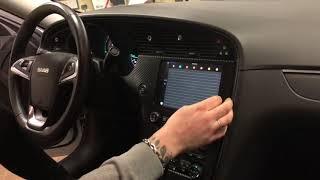 iPad Mini as navigation/stereo unit in the Saab NG 9-5 Aero