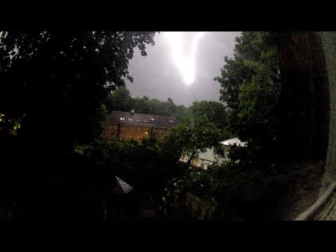 Fork Lightning Hits London Crystal Palace Tower 2 . WOW