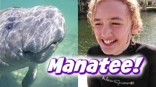 The Best Day of Her Life - Snorkeling with Manatees!