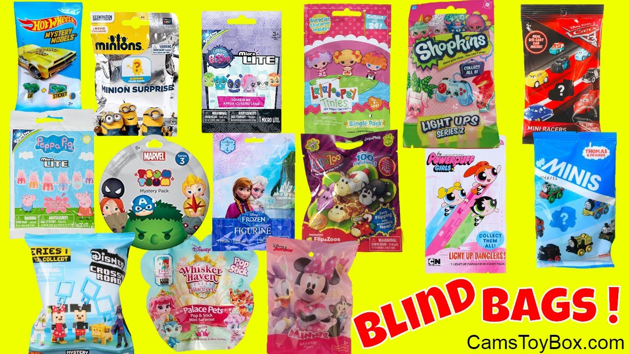 Blind Bags Opening Peppa Pig Disney Crossy Road Flip A Zoo