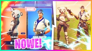 PANDA & SUSHI MASTER IN THE GAME! NEW GATHERAK, LOTNIA, SKINS-Fortnite Battle Royale