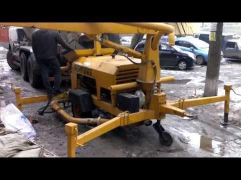 Запуск стационарного бетононасоса Ижевск