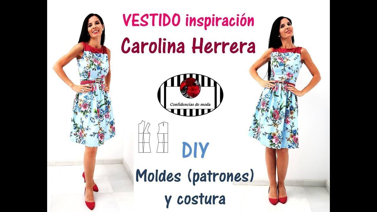 DIY. Cómo hacer un vestido tipo Carolina Herrera. Clase de moldes ...
