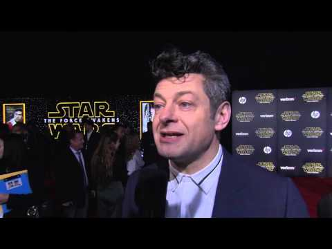Star Wars The Force Awakens World Premiere Interview - Andy Serkis