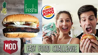 Trying the Impossible Whopper + Eating Vegan Fast Food for 24 Hours Challenge #5