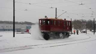 Trolley Snow Sweeper IN ACTION!!!