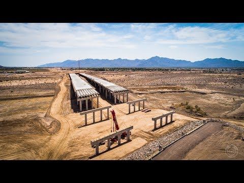 South Mountain Freeway Progress Drone Flyover   Salt River Segment   August 2018