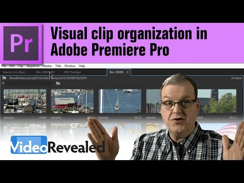 Visual clip organization in Adobe Premiere Pro