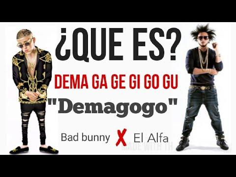 Bad bunny ft el alfa - dema  ga ge gi  go gu