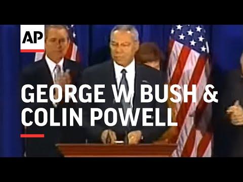 USA: GEORGE W BUSH & COLIN POWELL