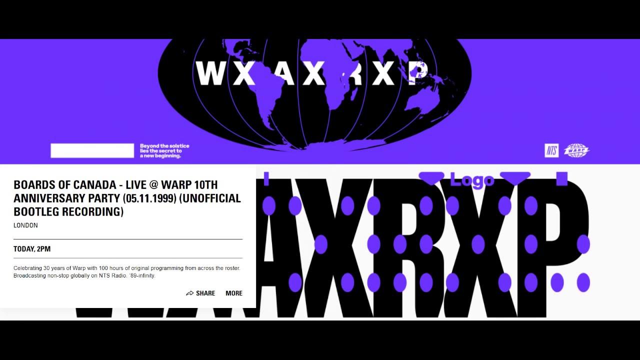 Boards of Canada - Live @ Warp 10th Anniversary (WXAXRXP)
