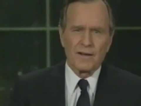 George Bush New World Order Speech - YouTube