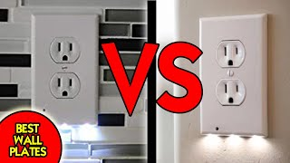 BEST WALL PLATES | SnapPower Guidelight VS Transacore Guidelight LED Outlet NightLight Comparison