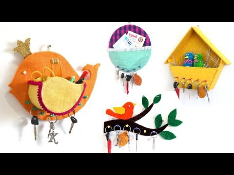 5 Useful & Easy Key Hanger Making Ideas at Home from Old Things ! - Sonali Creations