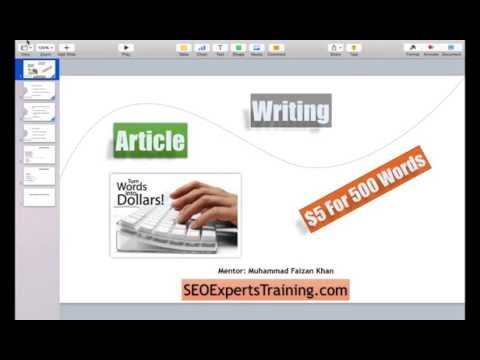How to Become an Article Writer &  Earn $5 Per Article