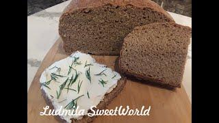 Пшенично ржаной хлеб на закваске Самый подробный рецепт