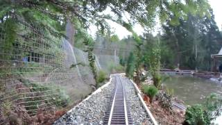 new garden train layout and rc boat pond 7