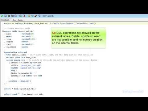 Oracle External Tables using oracle_loader