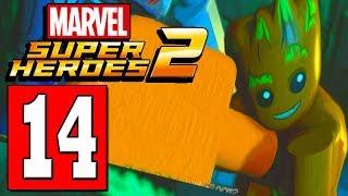 LEGO Marvel Super Heroes 2 Walkthrough Part 14 GET PAST LASERS SECURITY / KREE SECTOR HALA