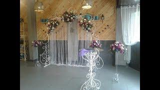 Оформление выездной церемонии живыми цветами. Making an exit ceremony with fresh flowers.