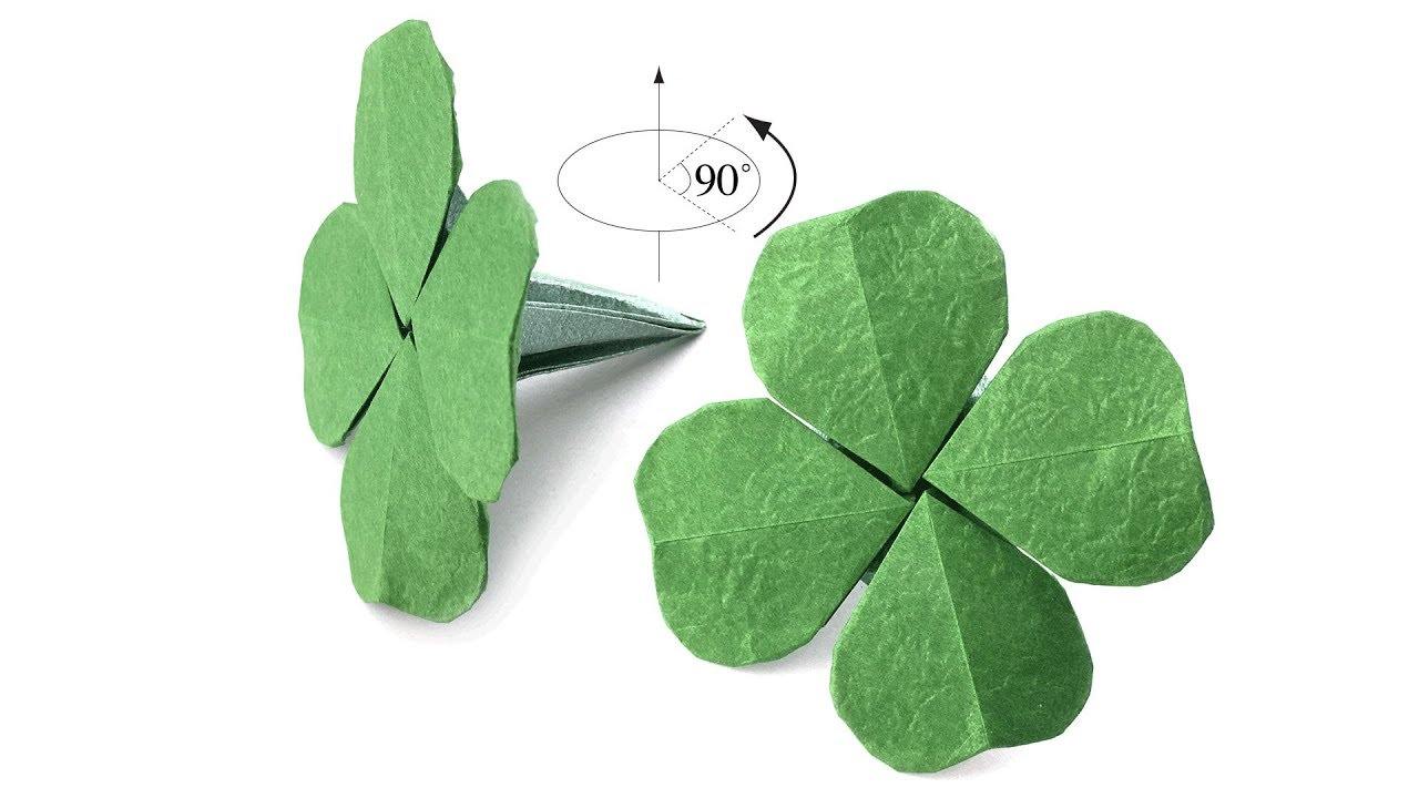 Saint Patrick S Day Origami It S Not Shamrock But Four Leaf